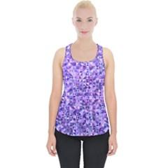 Purple Triangle Background Piece Up Tank Top