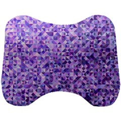 Purple Triangle Background Head Support Cushion