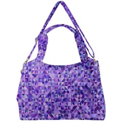 Purple Triangle Background Double Compartment Shoulder Bag by Jojostore