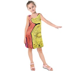 Pattern Background Abstract Kids  Sleeveless Dress