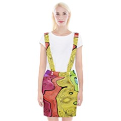 Pattern Background Abstract Braces Suspender Skirt