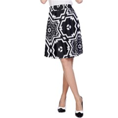 Black And White Pattern Background Structure A Line Skirt