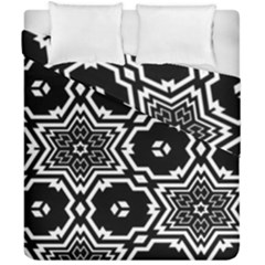 Black And White Pattern Background Structure Duvet Cover Double Side (california King Size)