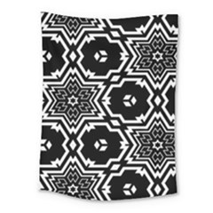 Black And White Pattern Background Structure Medium Tapestry
