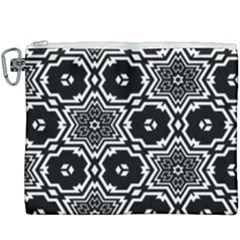 Black And White Pattern Background Structure Canvas Cosmetic Bag (xxxl)