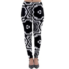 Black And White Pattern Background Structure Lightweight Velour Leggings by Pakrebo