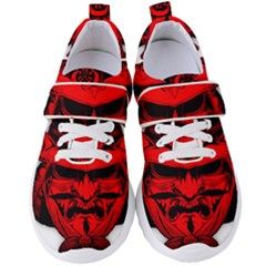 Oni Warrior Samurai Graphics Women s Velcro Strap Shoes by Jojostore