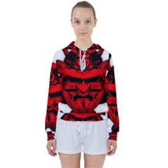 Oni Warrior Samurai Graphics Women s Tie Up Sweat