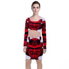Oni Warrior Samurai Graphics Top And Skirt Sets by Jojostore