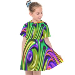 Fractal Mandelbrot Art Wallpaper Kids  Sailor Dress by Pakrebo