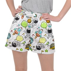 Sketch Cartoon Space Stretch Ripstop Shorts