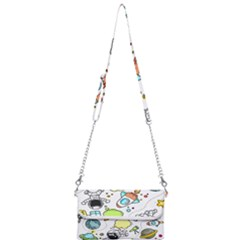 Sketch Cartoon Space Mini Crossbody Handbag by Jojostore