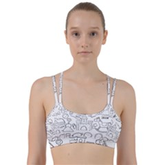 Baby Hand Sketch Drawn Toy Doodle Line Them Up Sports Bra