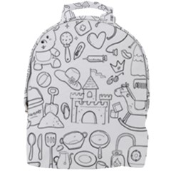 Baby Hand Sketch Drawn Toy Doodle Mini Full Print Backpack