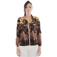 Wonderful Steampunk Lady Windbreaker (women)