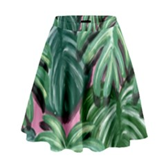 Painting Leaves Tropical Jungle High Waist Skirt by Jojostore