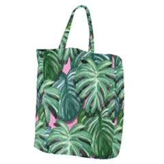Painting Leaves Tropical Jungle Giant Grocery Tote