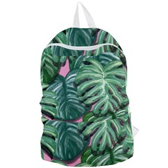 Painting Leaves Tropical Jungle Foldable Lightweight Backpack by Jojostore