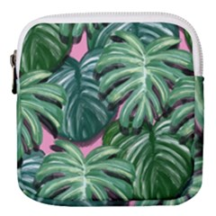 Painting Leaves Tropical Jungle Mini Square Pouch