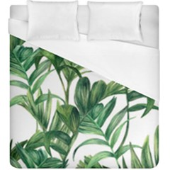 Palm Leaf Duvet Cover (king Size) by Jojostore