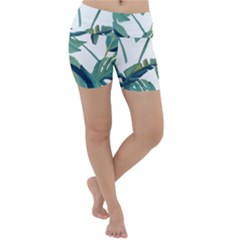 Plants Leaves Tropical Nature Lightweight Velour Yoga Shorts