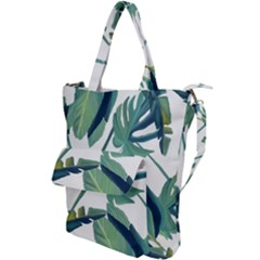 Plants Leaves Tropical Nature Shoulder Tote Bag by Alisyart