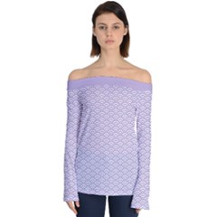 Circly Waves  Off Shoulder Long Sleeve Top by TimelessFashion