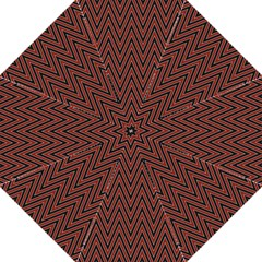 Pattern Chevron Black Red Folding Umbrellas