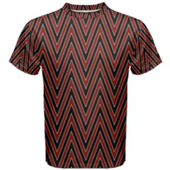 Pattern Chevron Black Red Men s Cotton Tee