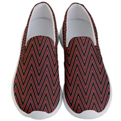 Pattern Chevron Black Red Men s Lightweight Slip Ons by Alisyart