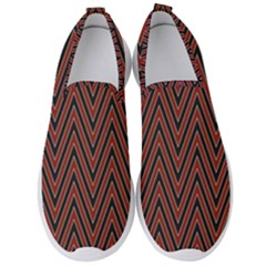 Pattern Chevron Black Red Men s Slip On Sneakers by Alisyart