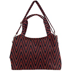 Pattern Chevron Black Red Double Compartment Shoulder Bag by Alisyart