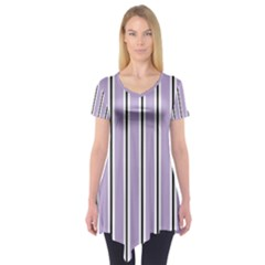 Classic Stripes  Short Sleeve Tunic  by TimelessFashion