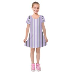 Classic Stripes  Kids  Short Sleeve Velvet Dress