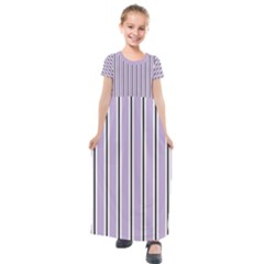 Classic Stripes  Kids  Short Sleeve Maxi Dress by TimelessFashion