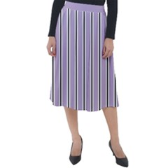 Classic Stripes  Classic Velour Midi Skirt  by TimelessFashion