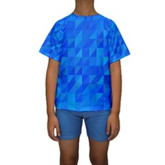 Pattern Halftone Geometric Kids  Short Sleeve Swimwear by Alisyart