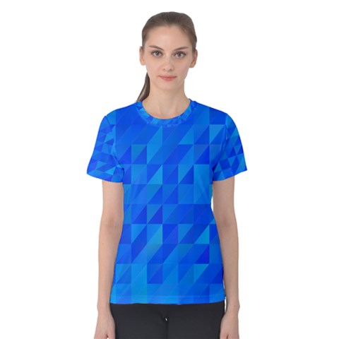 Pattern Halftone Geometric Women s Cotton Tee by Alisyart