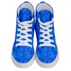 Pattern Halftone Geometric Men s Hi Top Skate Sneakers