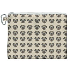 Puppy Dog Pug Canvas Cosmetic Bag (xxl)