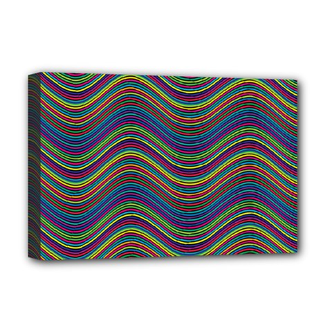 Ornamental Line Abstract Deluxe Canvas 18  X 12  (stretched)
