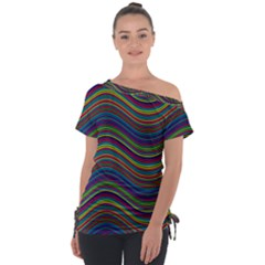 Ornamental Line Abstract Tie Up Tee by Alisyart