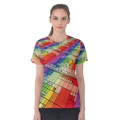 Perspective Background Color Women s Cotton Tee