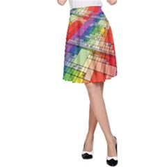 Perspective Background Color A-line Skirt