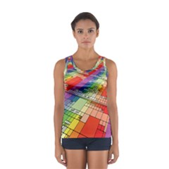 Perspective Background Color Sport Tank Top  by Alisyart