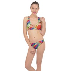 Perspective Background Color Classic Banded Bikini Set