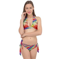 Perspective Background Color Tie It Up Bikini Set