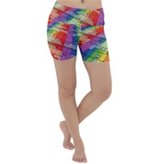 Perspective Background Color Lightweight Velour Yoga Shorts by Alisyart