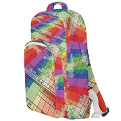 Perspective Background Color Double Compartment Backpack