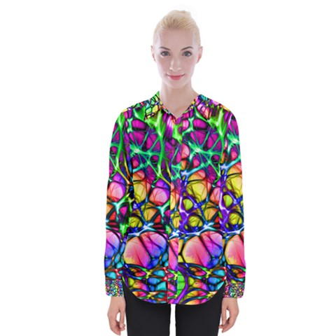 Network Nerves Womens Long Sleeve Shirt by Alisyart